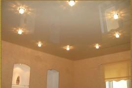 Установка светильников в потолки из гипсокартона